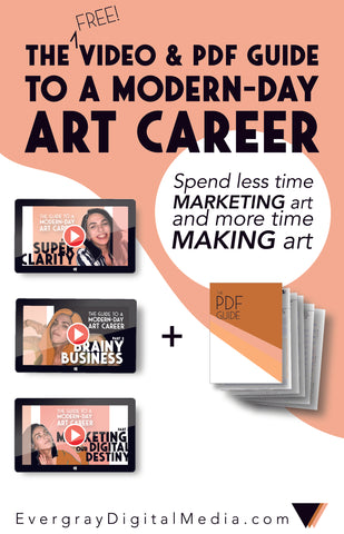 Bold Business for Artists: The Guide to a Modern-Day Art Career is a simple, free, and powerfully potent way to zero in on your business & marketing goals. It's training that includes 3 videos & a PDF download, and best of all - IT SAVES YOU TIME. Get it right here: