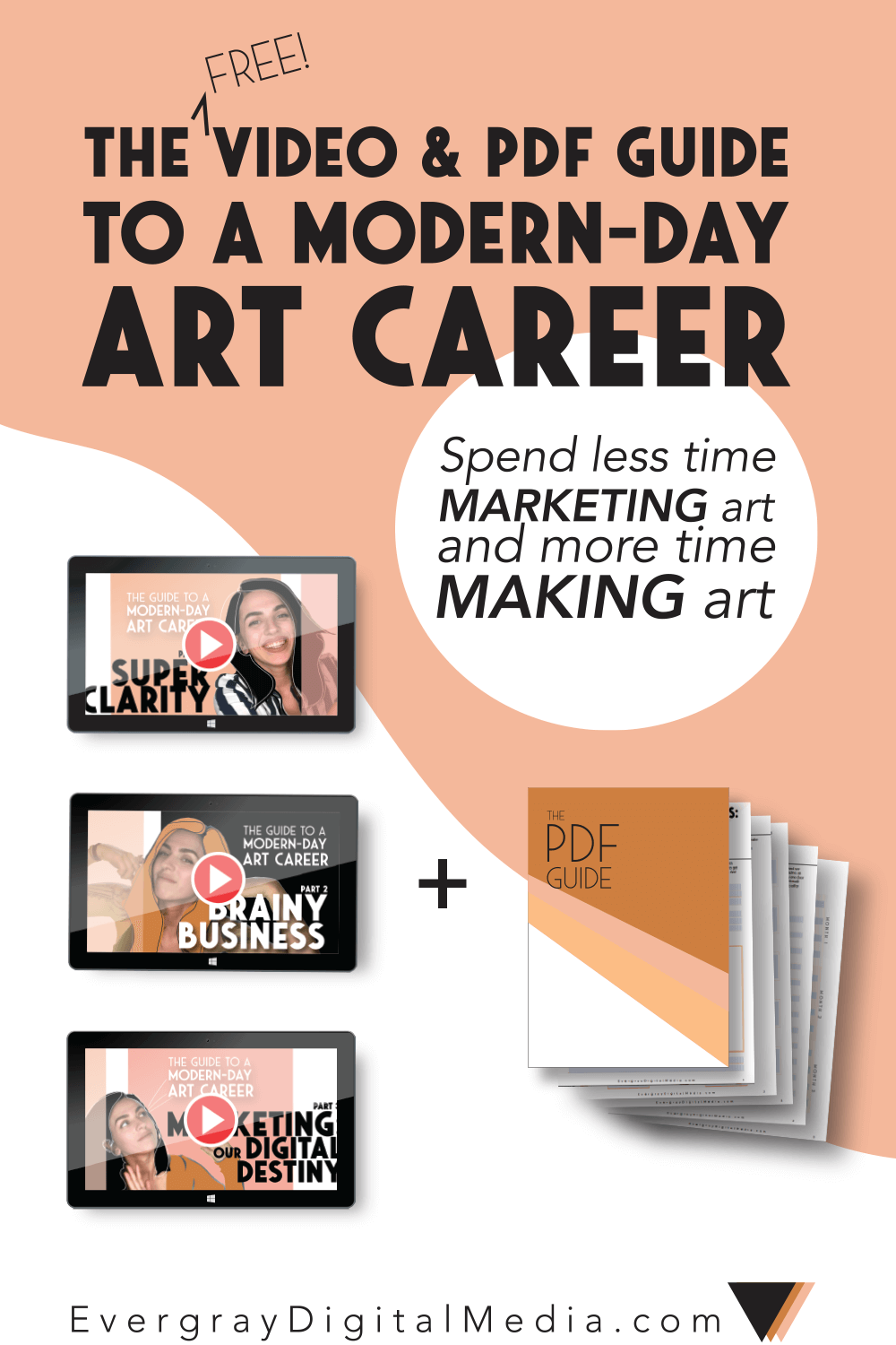 Bold Business for Artists: The Guide to a Modern-Day Art Career is a simple, free, and powerfully potent way to zero in on your business & marketing goals. It's training that includes 3 videos & a PDF download, and best of all - IT SAVES YOU TIME. Get it right here.