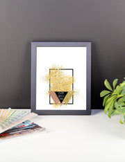 Framed photo paper poster - Glitter Logo
