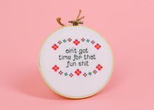 """FUN SHIT"" CROSS-STITCH"