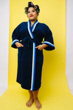 BLUE VELOUR ROBE