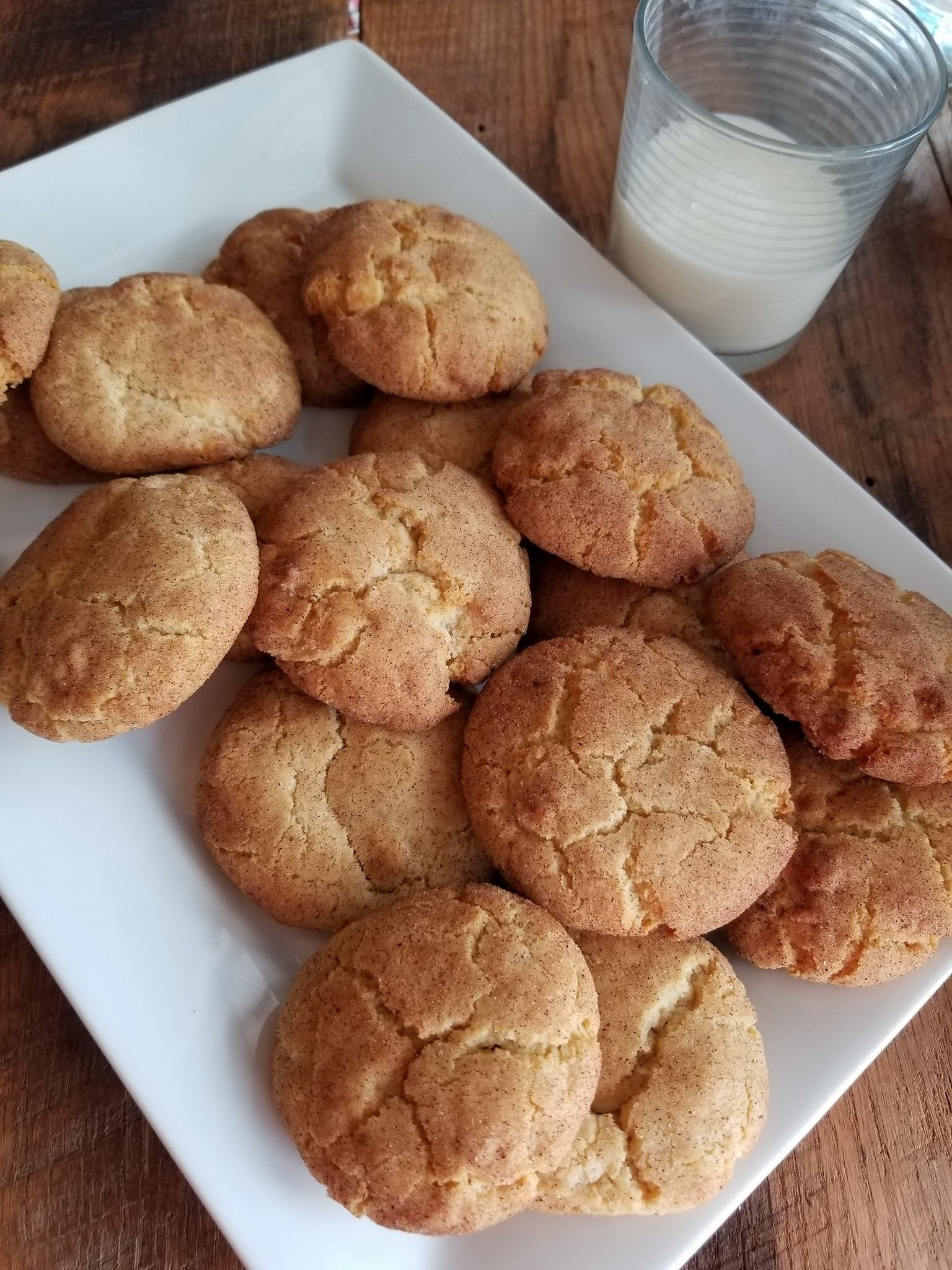 White Chocolate Chai Snickerdoodle Cookies