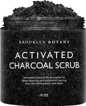 Activated Charcoal Body and Face Scrub - 10 oz