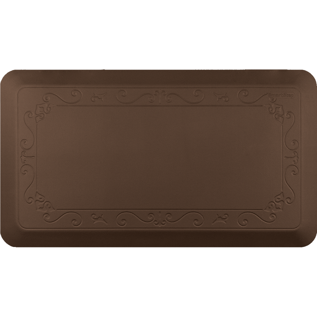 "Fleur De Lys Brown 36"" x 20"" Anti-Fatigue Mat"
