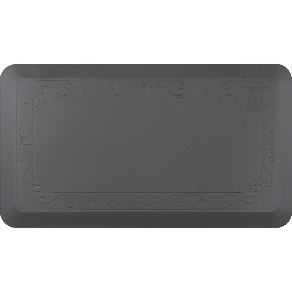 "Fleur De Lys Gray 36"" x 20"" Anti-Fatigue Mat"