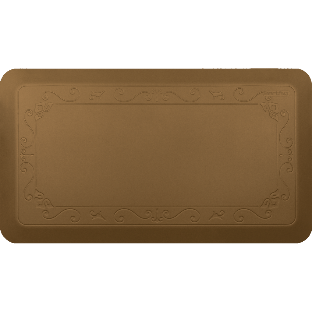 "Fleur De Lys Tan 36"" x 20"" Anti-Fatigue Mat"