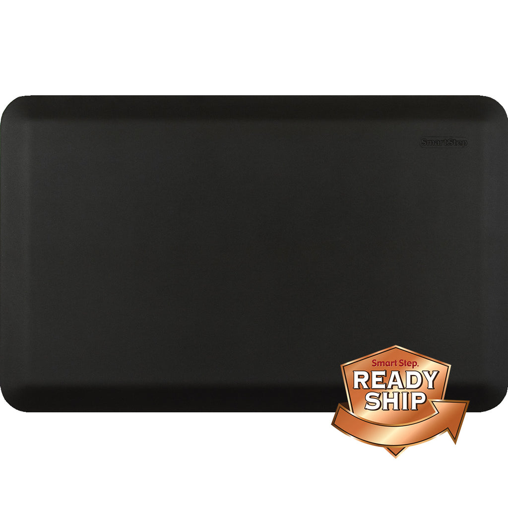 "Suede Charcoal 32"" x 20"" Anti-Fatigue Mat"