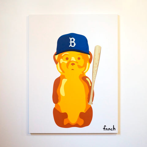 Large Brooklyn Dodgers Bear