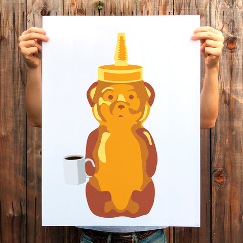 Coffee Bear Print