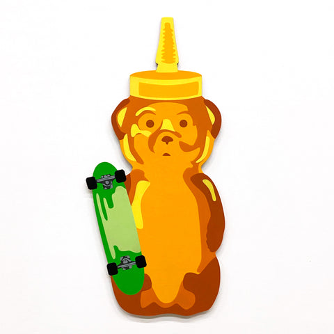Green Skateboard Bear