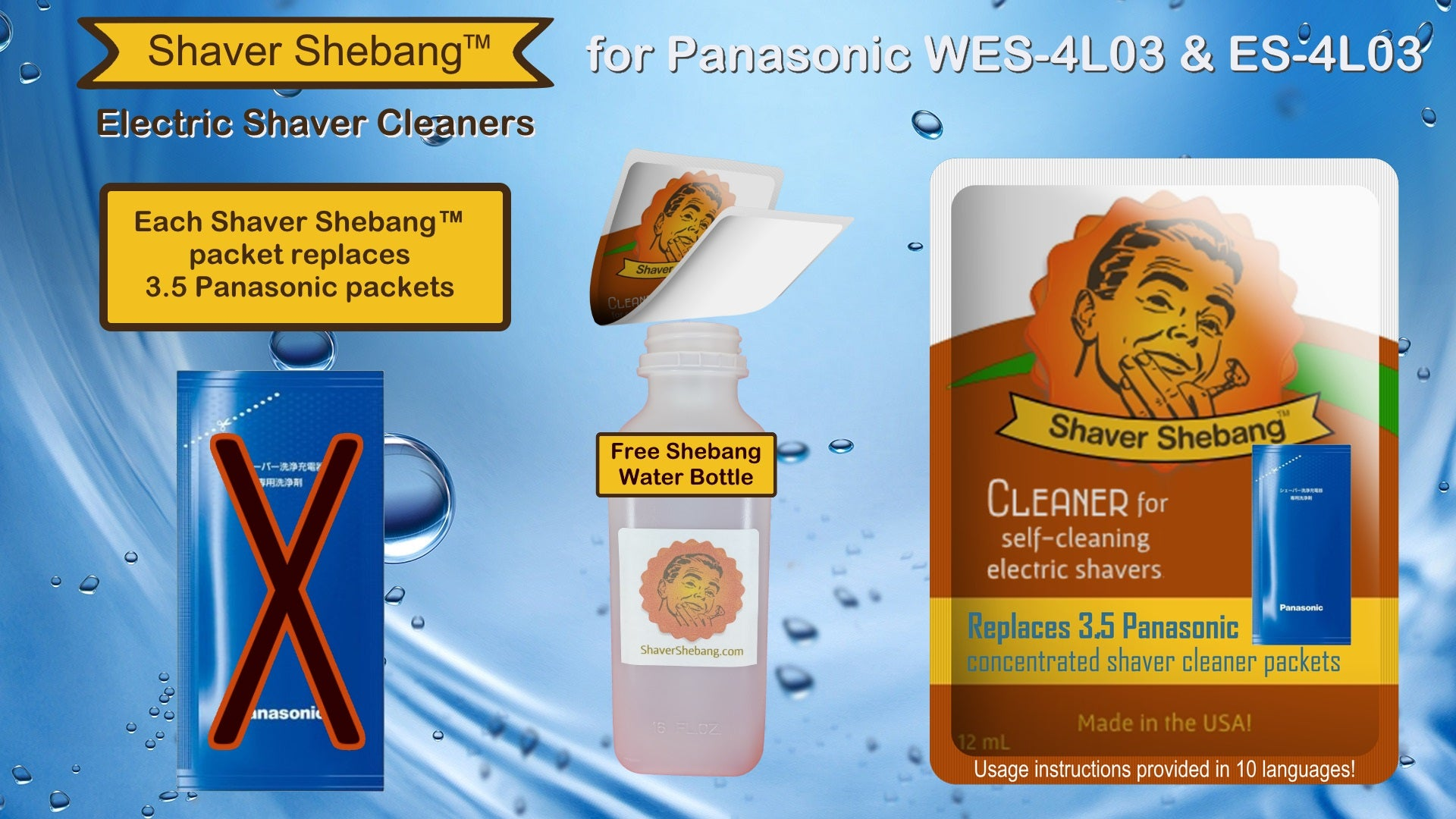 Shaver Shebang for Panasonic WES-4L03 and ES-4L03 concentrate