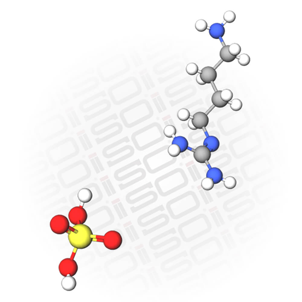 Molecular view of Agmatine Sulfate