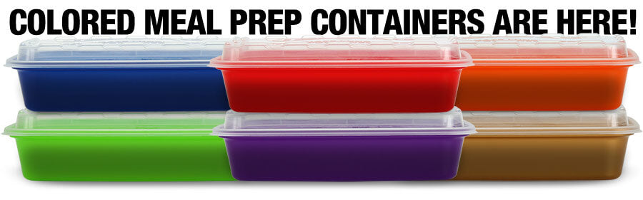 colored meal prep containers
