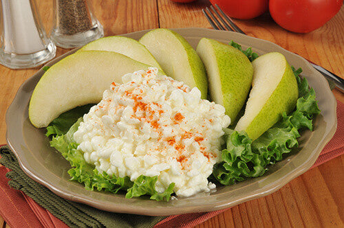 Pear and Cottage Cheese