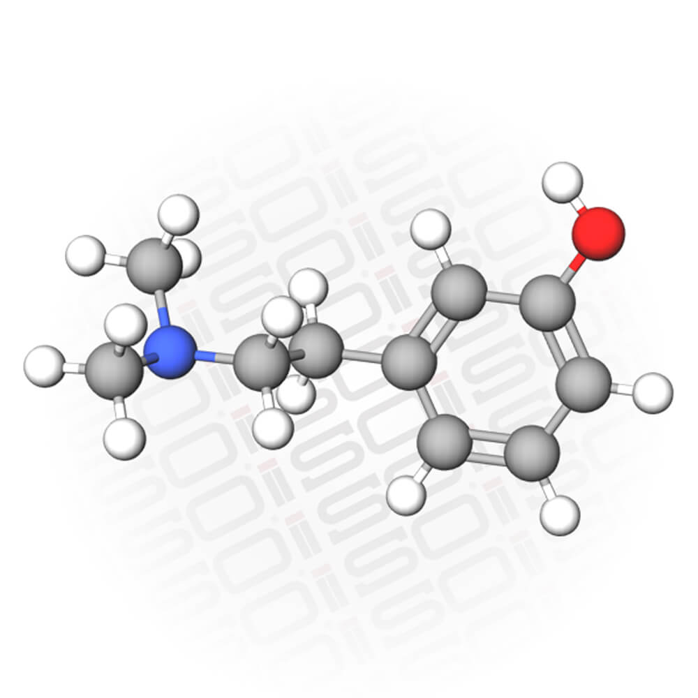 Molecular Representation of the Compound Hordenine HCL