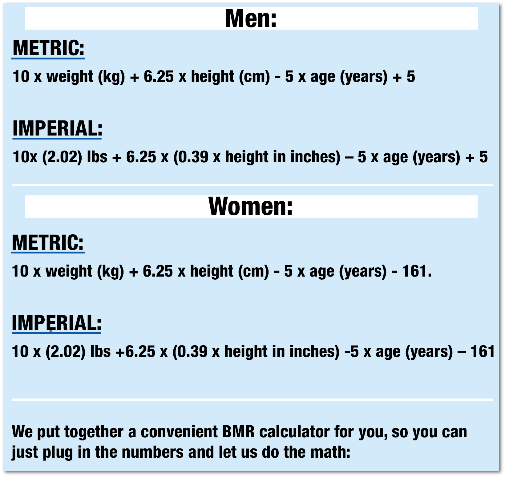 How to Calculate Basal Metabolic Rate