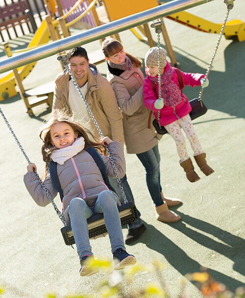family fitness, playground, inner child
