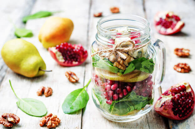 Our Favorite Mason Jar Recipe: Pomegranate & Pear Salad
