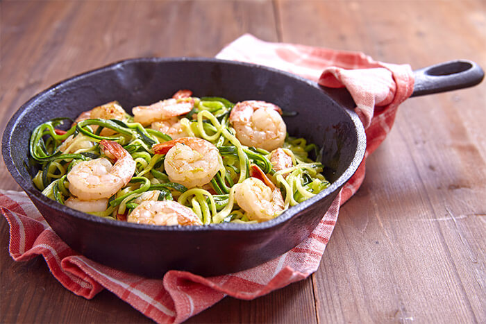 Healthy Zucchini Pasta with Shrimp 5 Servings