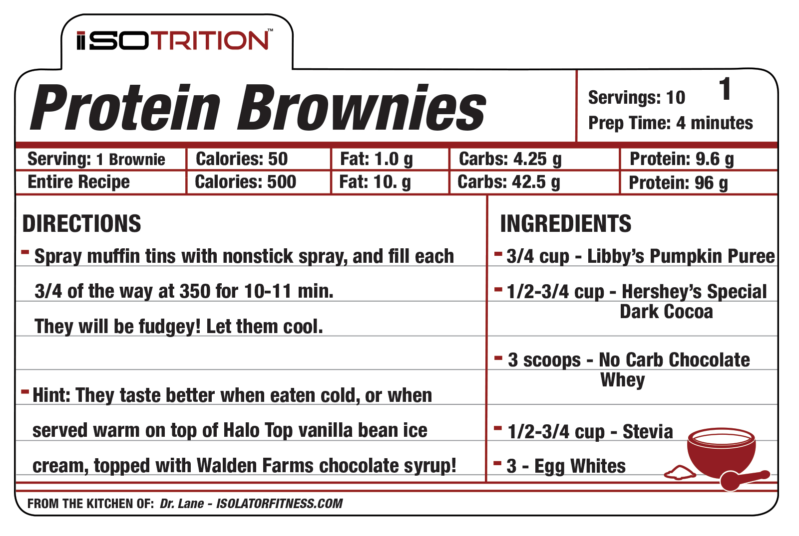 protein brownie recipe