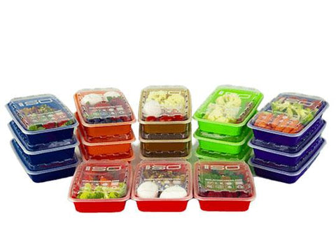 16oz Mixed Colored Meal Prep Containers