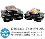 Black Meal Prep Container Combos