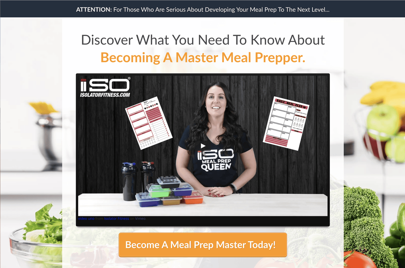 Isolator Fitness Meal Prepping Essentials Boot Camp