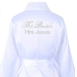 Personalised Bridal Rhinestone Crystal Robe