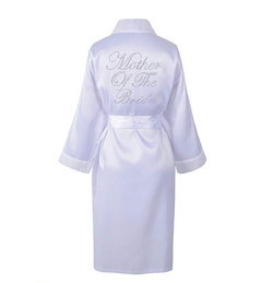 Mother of the bride Satin Rhinestone Robe