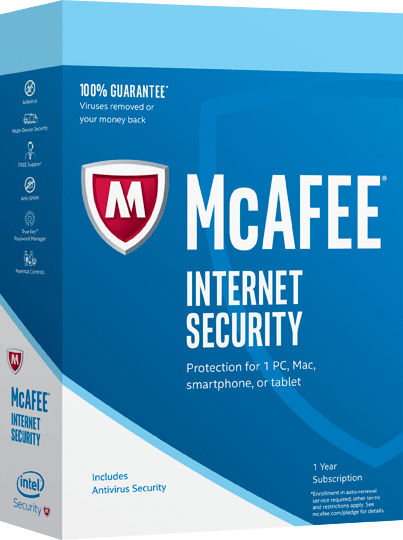 Cheap Antivirus McAfee Internet Security - 12 Month - InterSecure