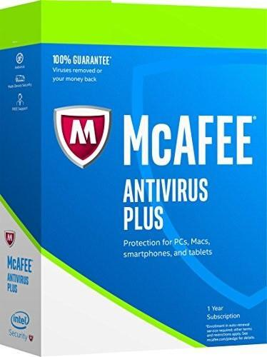 Cheap Antivirus LATEST EDITION McAfee Complete Antivirus Plus Protection - 1 Year - InterSecure