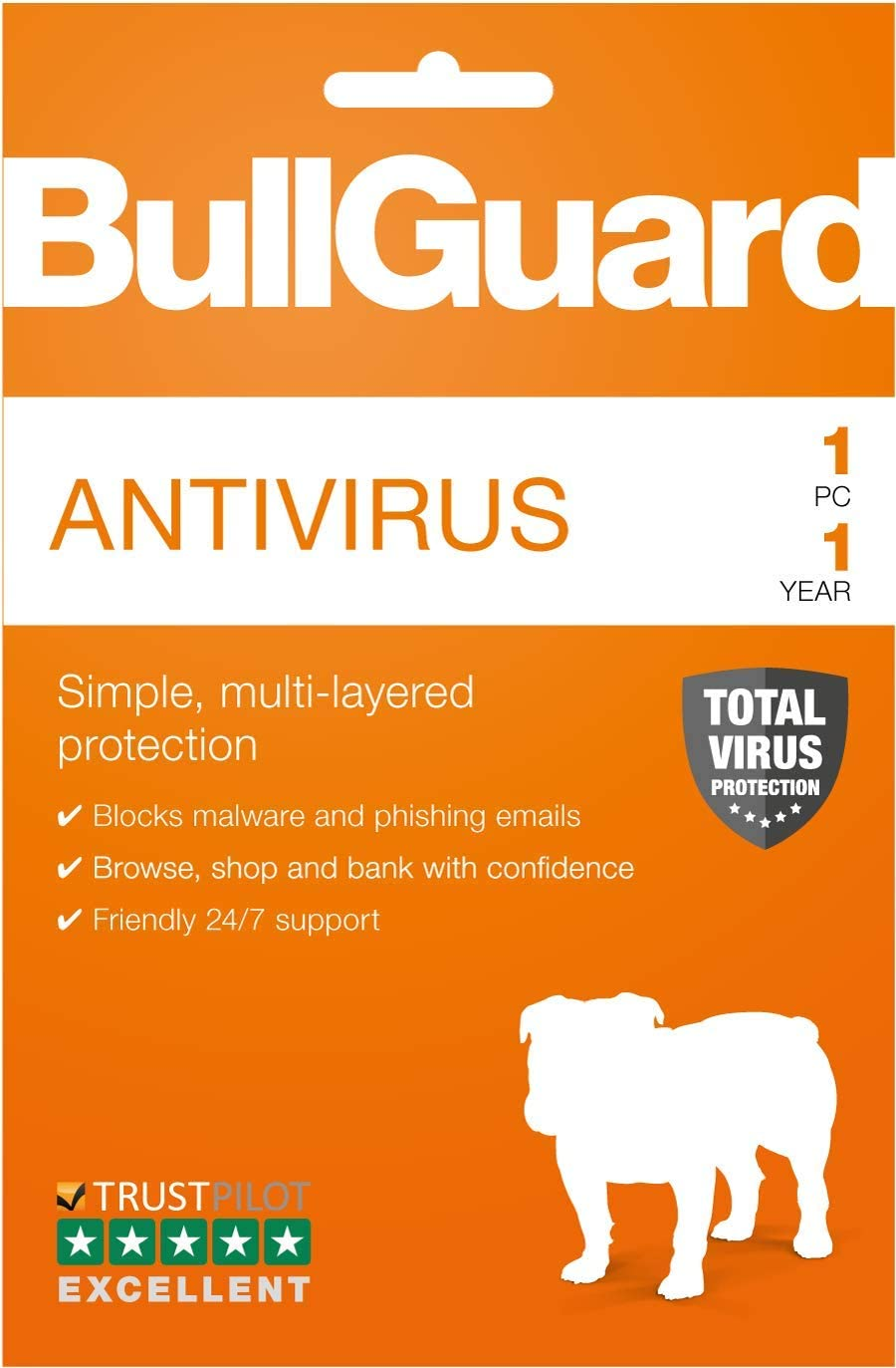 BullGuard Latest Antivirus Protection 1 Device - TRADE