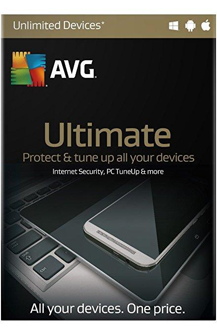 Cheap Antivirus Official AVG Ultimate Protection - Latest Edition + PC Tuneup for All your devices - InterSecure
