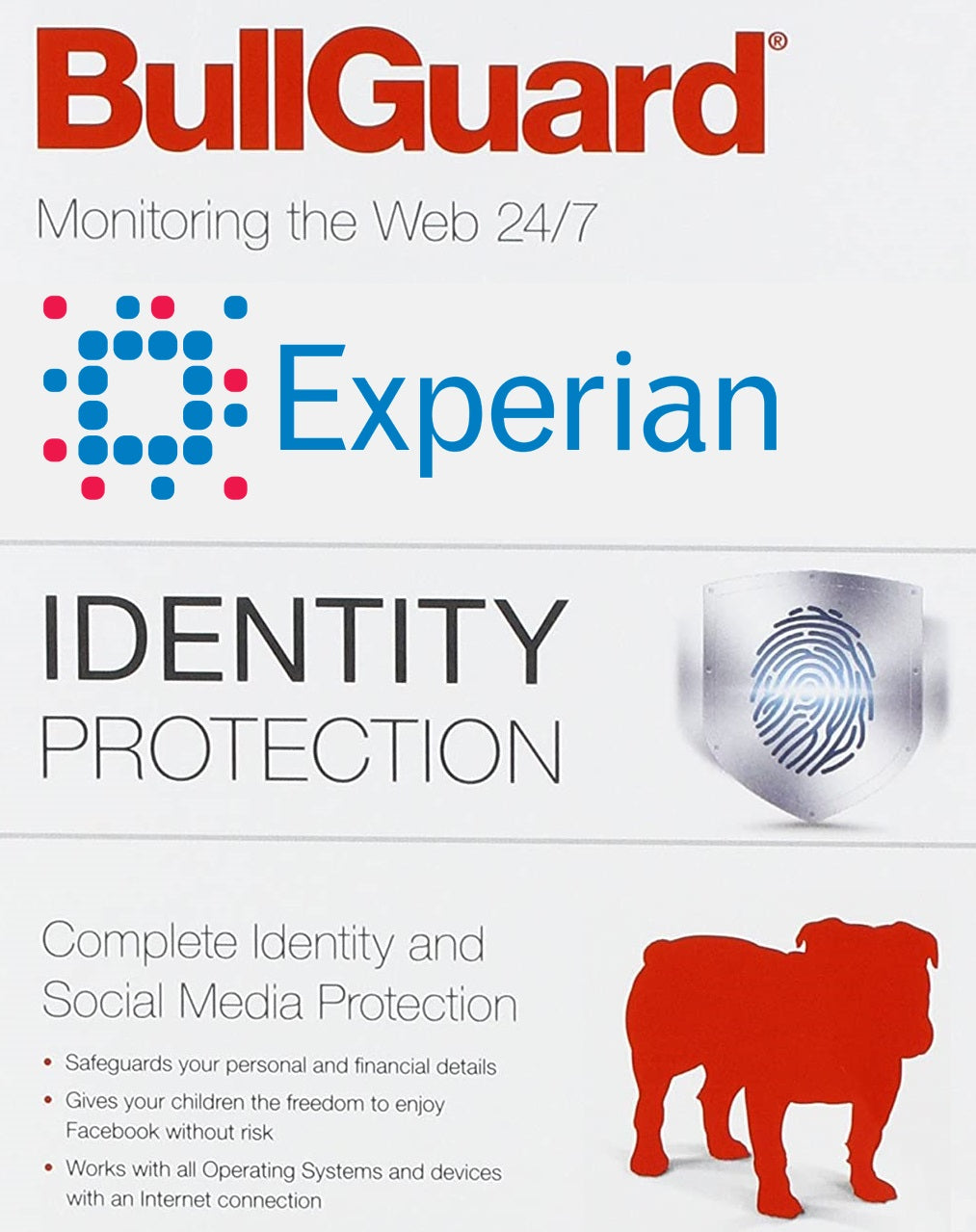 Experian by BullGuard Identity & Social Media Fraud Monitoring Protection 1 Year