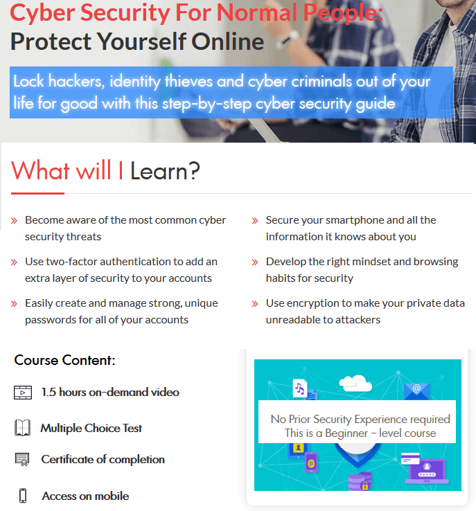 Cyber Security Course For Normal People How To Protect Yourself