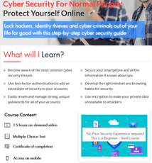 Cyber Security Course For Normal People: How To Protect Yourself Online