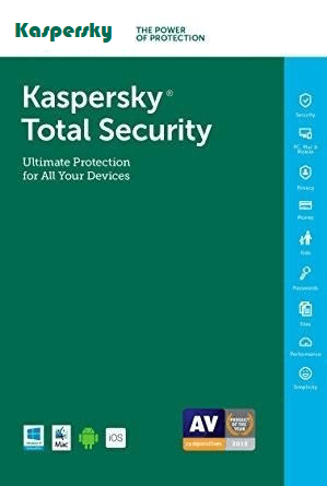 Cheap Antivirus Kaspersky Total Security Protection For 12 Month (Windows, MAC & Android) - InterSecure