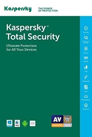 Cheap Antivirus Kaspersky Total Security 1 Year (Windows, MAC, Android) - InterSecure