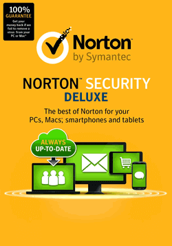 Cheap Antivirus Download Norton Security Deluxe - 1 Year Subscription PC/MAC/ANDROID - InterSecure