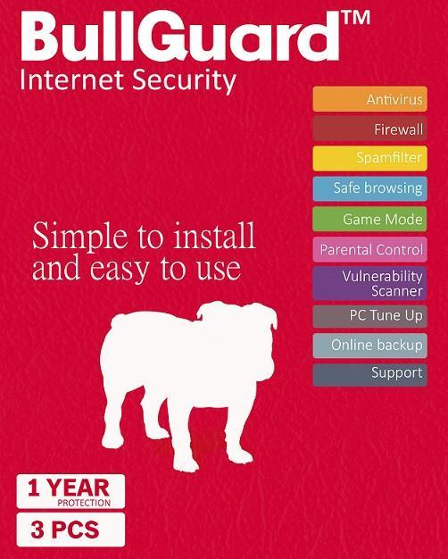 Cheap Antivirus BullGuard Internet Security 2019 - Windows/Android/MAC - InterSecure