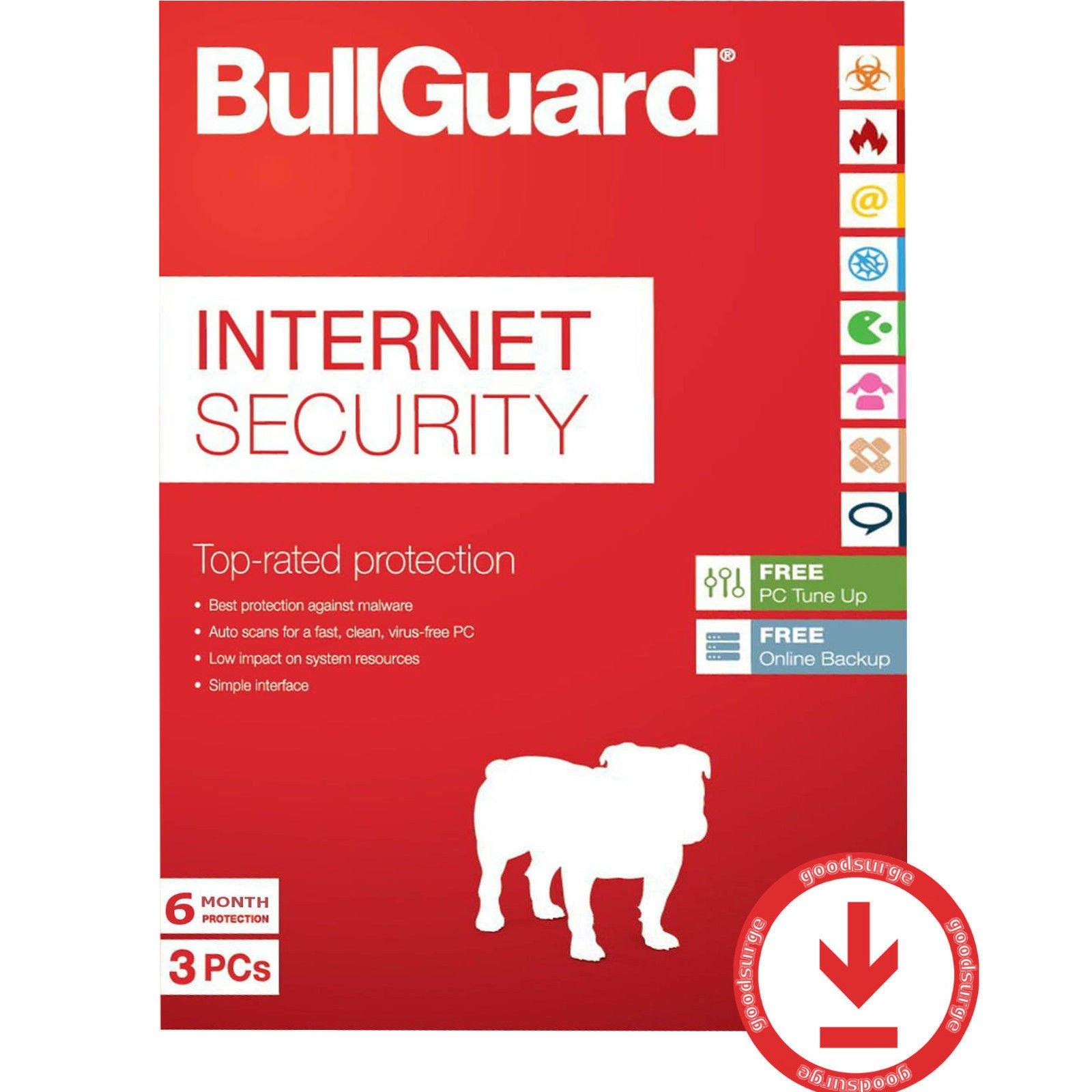 Cheap Antivirus NEW & RENEWAL BullGuard Internet Security - 12 Month LATEST EDITION - InterSecure