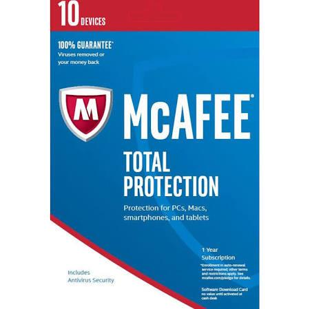 Cheap Antivirus McAfee Total Protection - Latest Edition - 12 Month - InterSecure