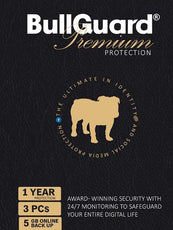 Cheap Antivirus BullGuard 2017 Premium Protection Internet Security 3 Users 1 Year - 5GB Online Backup - InterSecure