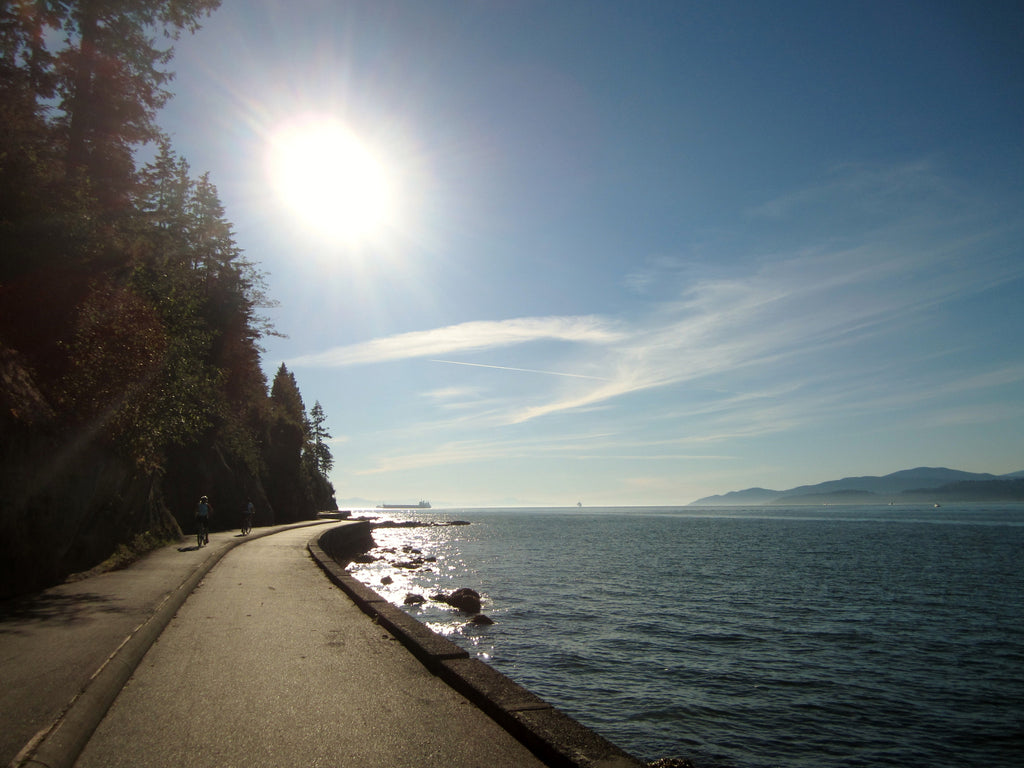Ride around the world famous Seawall at Stanley Park