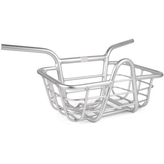 Evo Integrated Alloy 25.4 Handlebar Basket Silver - Bike Doctor, Vancouver