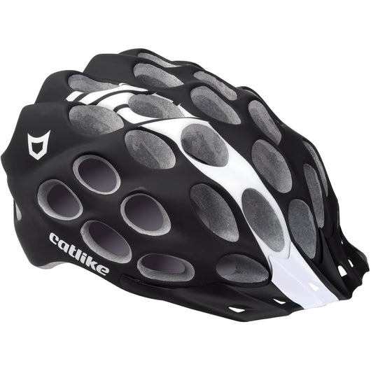 Catlike Whisper Plus Deluxe Helmet Black/White Medium - Bike Doctor, Vancouver