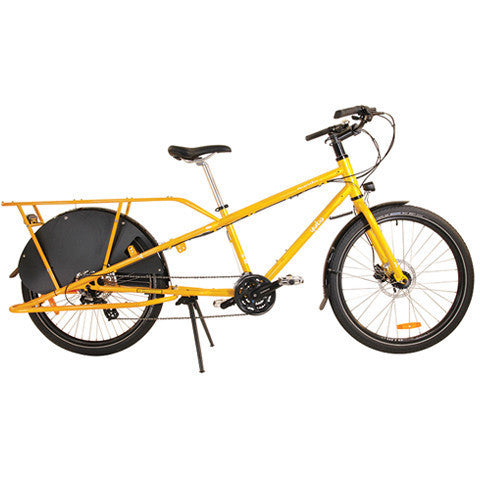 Shop Yuba Mundo Lux V5 Cargo Bike Gold At The Bike Doctor, Vancouver.