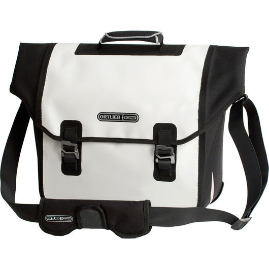 Ortlieb Downtown QL2 18L Pannier Bag White/Black - Bike Doctor, Vancouver
