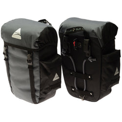 Axiom Seymour DLX 30 Litre Pannier Bag Grey/Black - Bike Doctor, Vancouver
