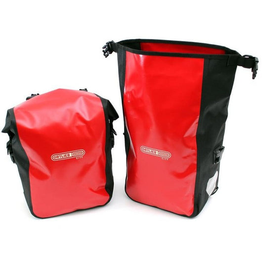 Shop Ortlieb Back-Roller City Panniers 25L, Red At The Bike Doctor, Vancouver.